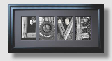 The word LOVE made from letter photos