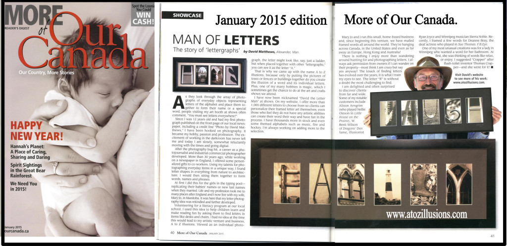Canada Man Of Letters With His Alphabet Photography!